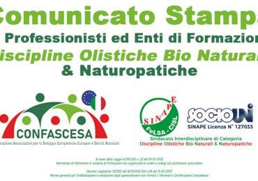 Comunicato ai Professionisti ed Enti di Formazione Discipline Olistiche Bio Naturali & Naturopatiche