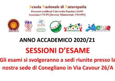 Scuola Nazionale di Naturopatia Sessioni d'Esame Anno Accademico 2020/21